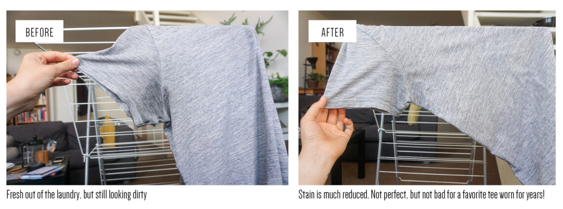 get armpit stains out of clothes with vinegar and baking soda_writing from nowhere