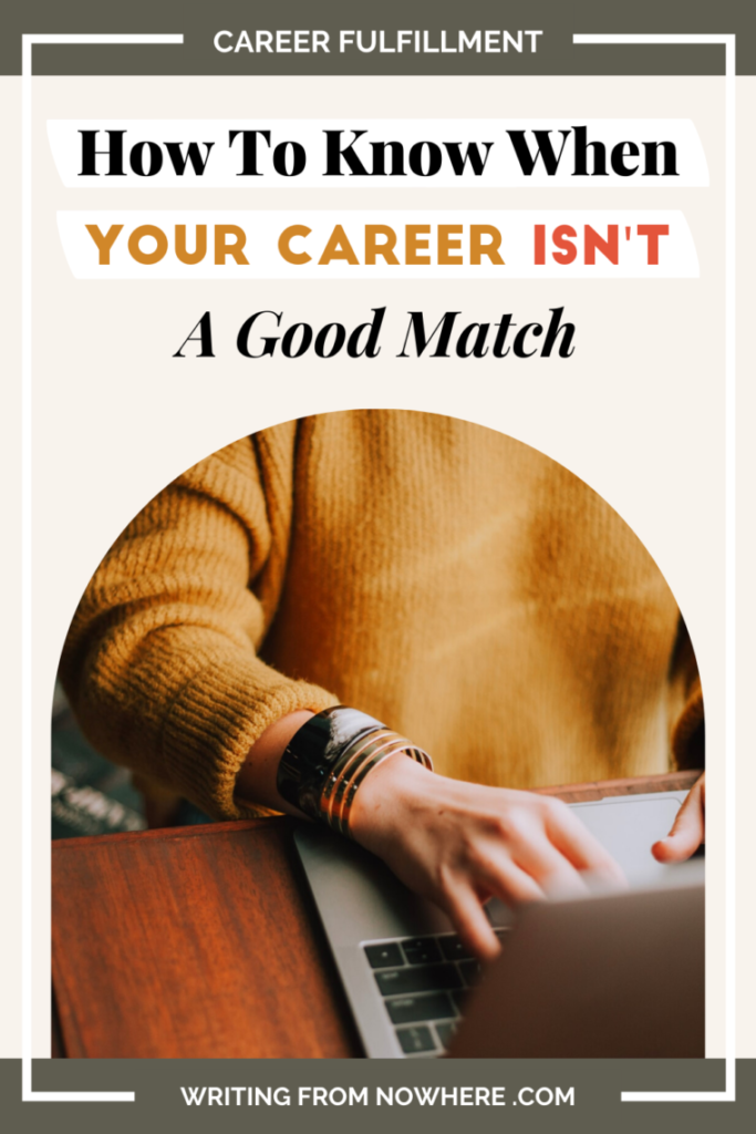 pinterest pin how to know when your career isn't a good match