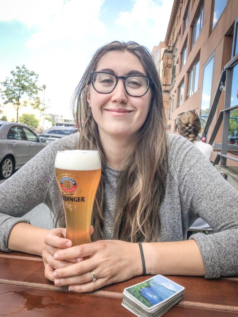 me having a beer in berlin