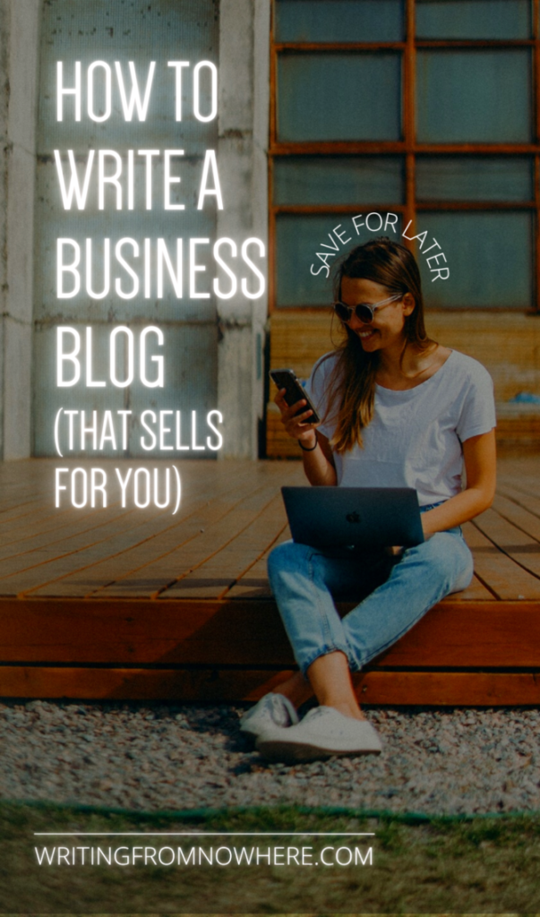 how to write a business blog pin cover for Pinterest-decorative