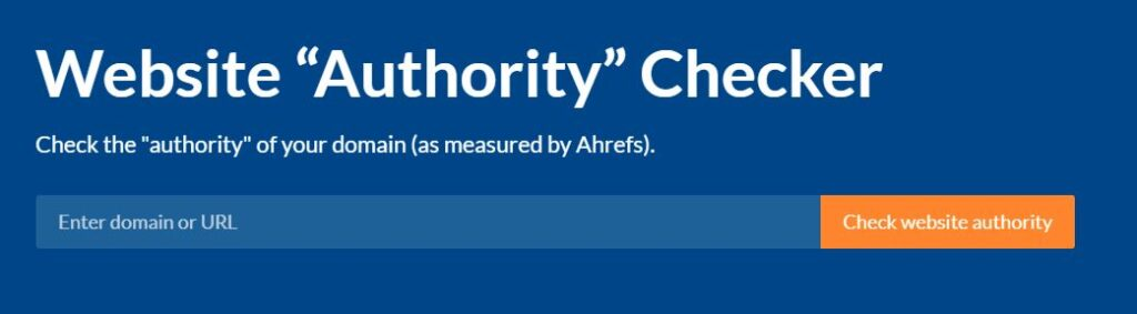 Screenshot of Afres authority checker